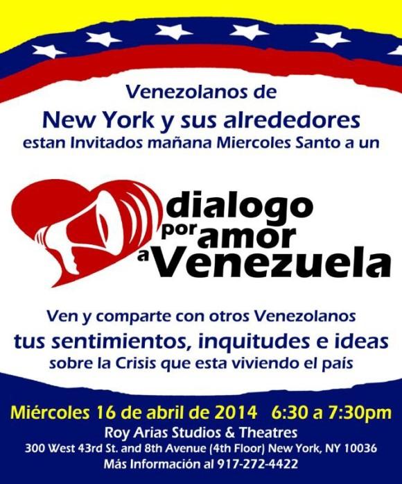 Dialogo por amor a Venezuela.